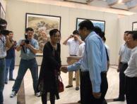 原全国政协主席贾庆林、任文化部部长孙家政参观曾迎春画展