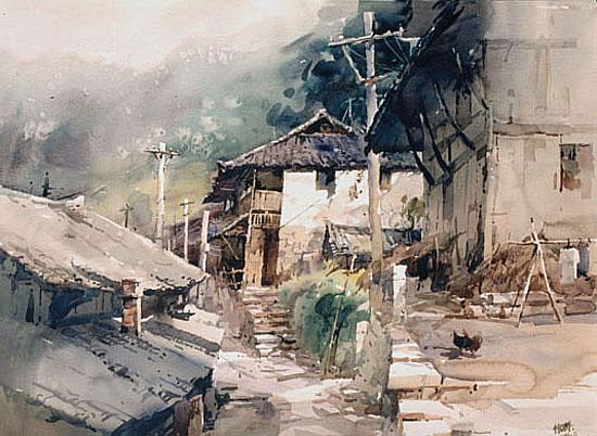 中国五十名水彩画家作品欣赏(组图)