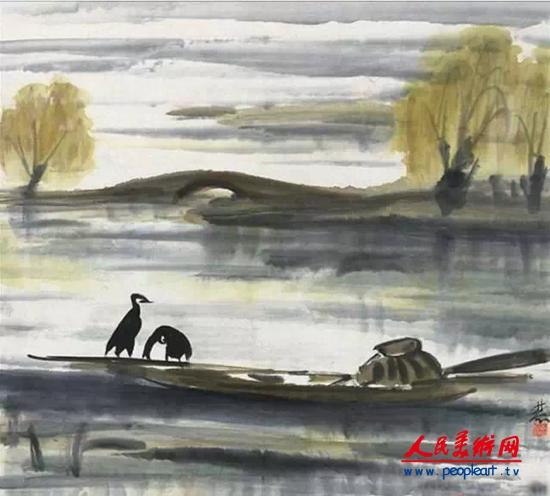 新中国的成立使林风眠重新认识了中国传统艺术和西方现代艺术,并把两者结合起来。解放前,林风眠在欧洲受过多年的教育,回国后也一直与西方绘画打交道,他出入最多的社交场合是法文协会之类组织,结交的也多是些欧美人士。他作品的买家也是这些人,所以他在艺术趣味上更接近于欧洲,而对自己本民族的传统文化倒是比较隔阂的。另一方面由于从小受封建宗族制度的迫害,使他20、30年代是一个坚定的反封建主义者。连带着使他对正统的文化思想非常鄙视,特别是对明清以来的文人绘画和文化厌恶之极。建国后的环境使他与西方的接触变得稀少了,他不得不