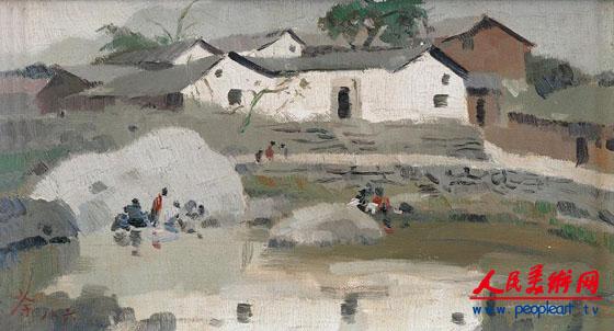 刘海粟油画作品欣赏