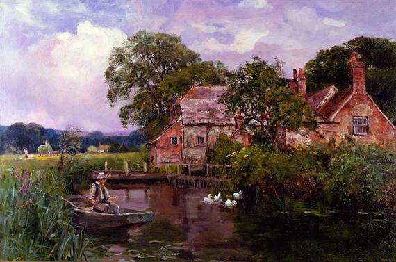 英国印象派风景画家henry john yeend king作品欣赏