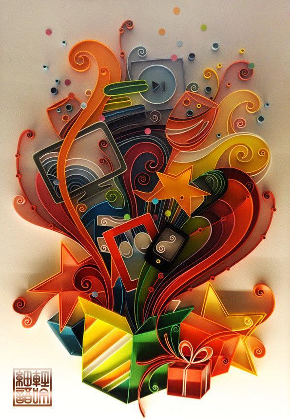 精美线条纸雕欣赏