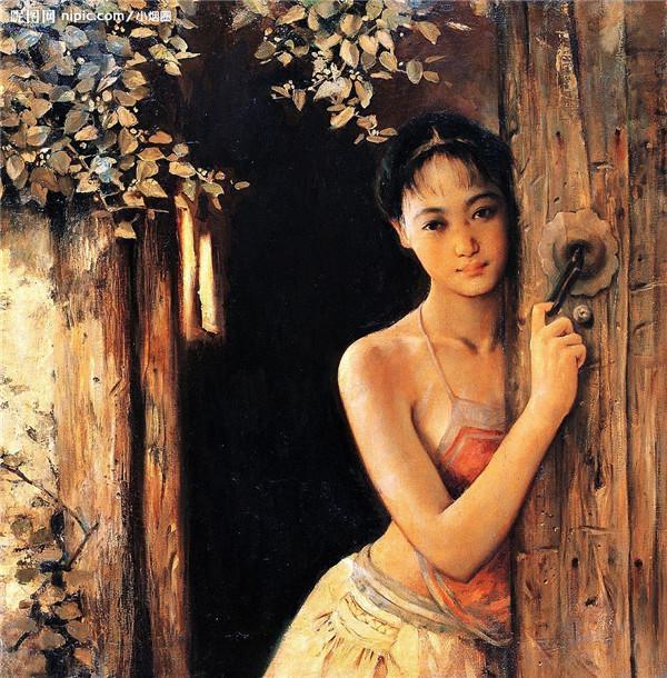 至美人物油画欣赏:乡村里的女人们