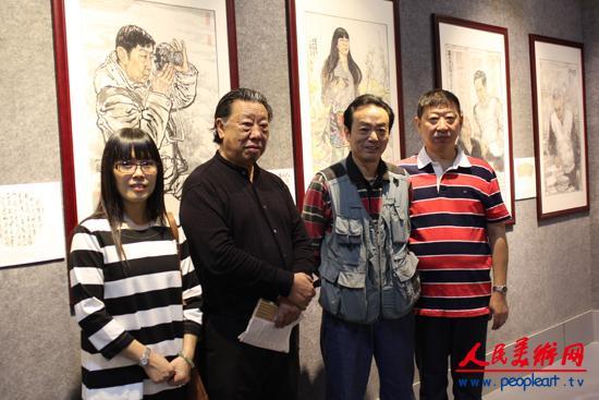 12、李人毅与画中人奇遥(左)、李宣辰(右)及著名画家牟成.JPG