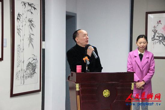 4、广州军区书画研究院副院长著名画家陈炳佳致辞.JPG