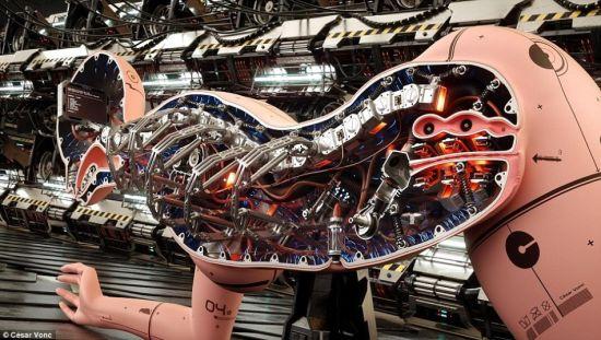 另类淫妻_法艺术家绘制未来派女机器人剖面图:另类性感(组图)