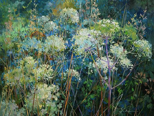 俄罗斯风景油画合集 俄罗斯乡村油画风景