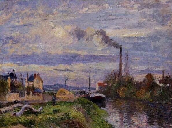 卡米耶·毕沙罗/1830年生于安的列斯群岛的圣托马斯岛1903年卒于巴黎。与父亲的想法不同,毕沙罗自幼便对艺术表现出浓厚兴趣。但直到25岁时,他才来到巴黎,开始接触艺术界。在这之前的1853年,他曾和画家梅尔贝一起在委内瑞拉住过一段时间。他在巴黎先认识了柯罗,后又利用在私人画室听课的机会认识了莫奈、塞尚以及后来的巴齐耶、雷诺阿和西斯莱。1864-1870年,他最初创作的巴黎风景画,通过评审团的评审,参加了官方画展。1870年,他为躲避战火来到伦敦。但从伦敦回国后,他却被剥夺了参展资格。从此