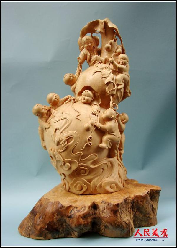 高敏雕塑作品欣赏——黄杨木雕系列