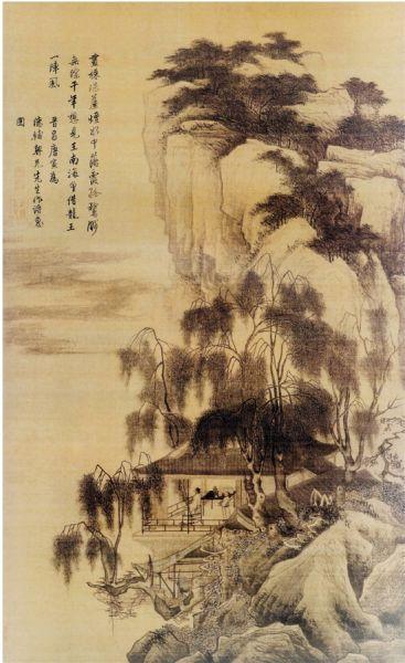 唐寅 落霞孤鹜图 189.1×105.4cm 上海博物馆藏