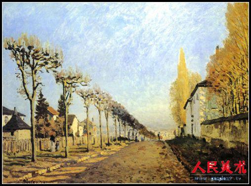 印象派画家西斯莱风景作品