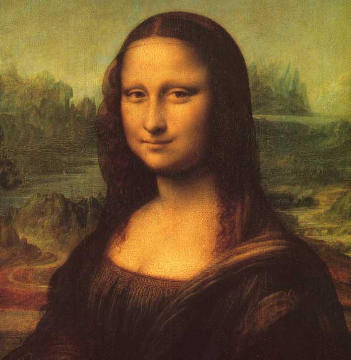蒙娜丽莎的微笑图片