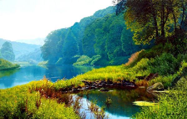英国风景油画家:迈克尔詹姆斯史密斯作品欣赏