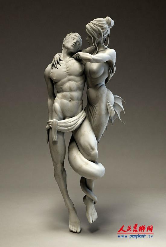 震撼的人体雕塑作品欣赏