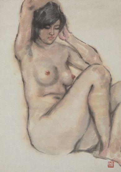 """""""国画人体""""不同于西画的人体素描、人体速写,前者所运用高清图片"""
