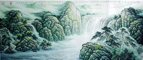 如果说神奇的山,水是张舸的生命底色,他喜爱山水却不停滞于山水表象