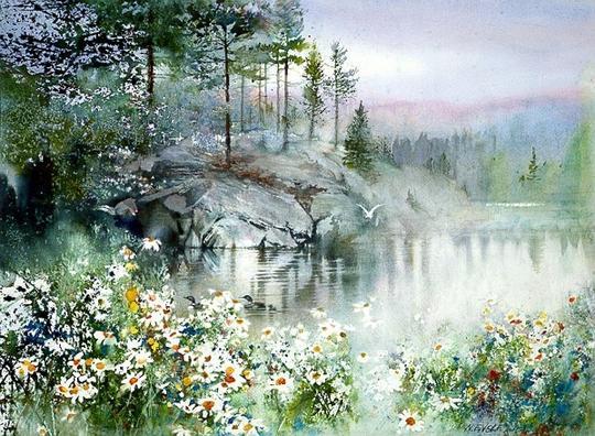 美国画家妮塔·恩格尔水彩风景画作品欣赏(组图)