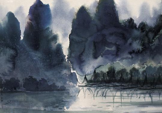 中国当代水彩画作品欣赏(组图)