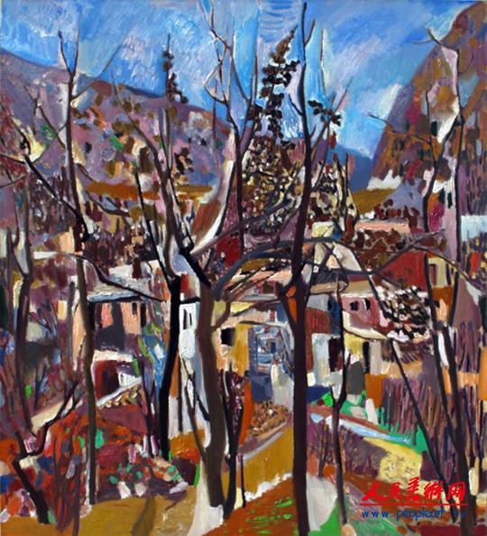 王克举油画作品欣赏:茁壮的风景