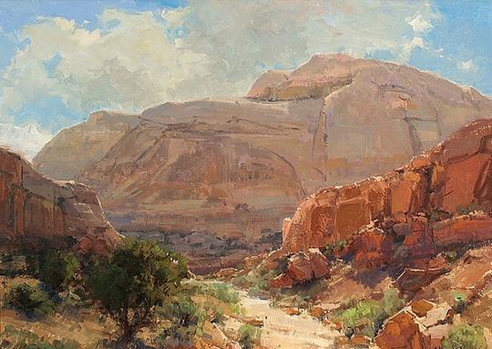 美國女畫家凱瑟琳 · 西德茨寫實風景油畫作品欣賞 (組圖)
