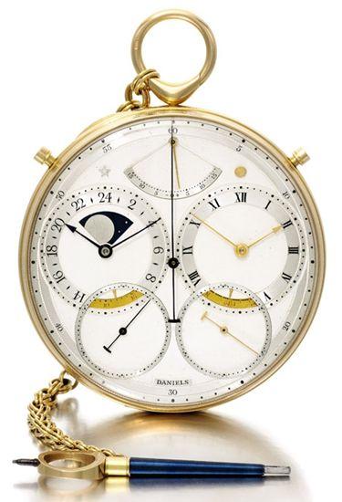 钟表大师乔治·丹尼尔斯手工制作的太空旅人表