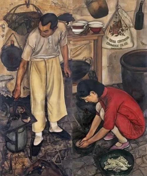 8,亡命日记图 王悦之 1930-1931年 画布油彩 185×144cm
