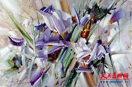 俄罗斯油画RamilGappasov视频花卉作品欣赏画家法兰绒图片