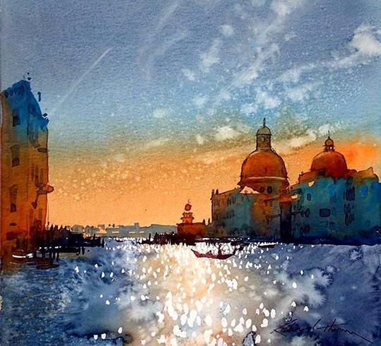 英国艺术家理查德 乔木-水彩画欣赏
