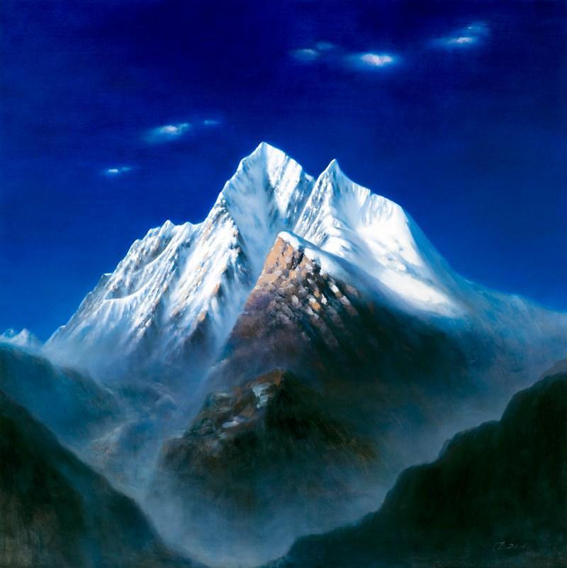 雪山油画风景图片大全