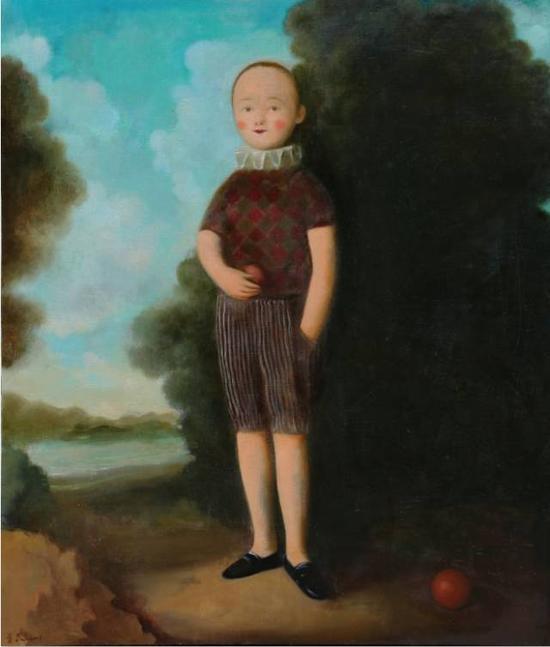 季鑫 《七月》, 布面油画,90×110cm,2015年