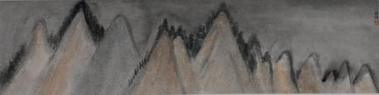 朱雅梅《揽系列一》35×138cm纸本水墨2015