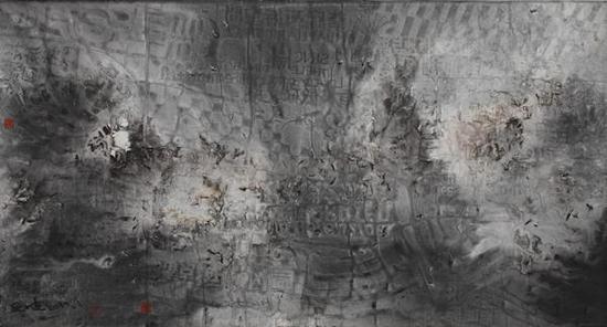 刘子建《南冰洋还在荡漾之五》180×97cm纸本水墨2015