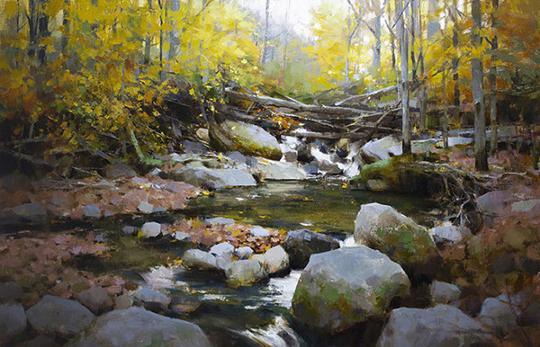 美国当代风景油画家作品