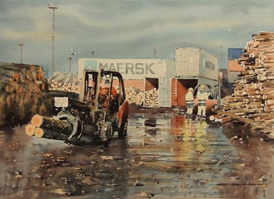 著名水彩画家 Sergiy Lysyy 风景画作品欣赏图片