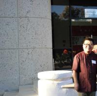 美国国会议员(Judy Chu)赵美心在李德哲美术馆