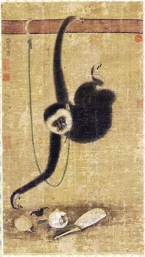 手绘写实猴子图片