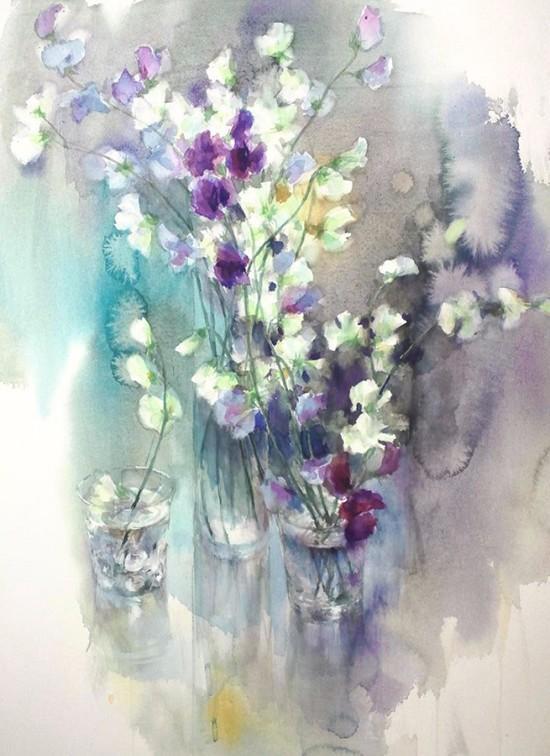 日本女水彩画家永山裕子视频系列作品欣赏(组海安江苏花卉图片