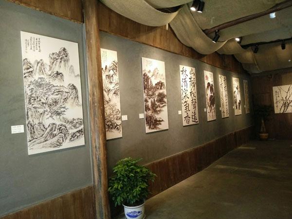 重庆安居古城萧泉山书画展厅开展(组图)图片