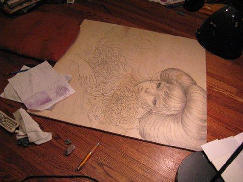 奥黛丽川崎超赞的木板刻画作品分享(组图)图片