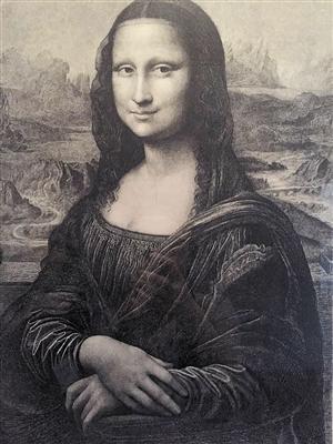 版画《蒙娜丽莎》图片