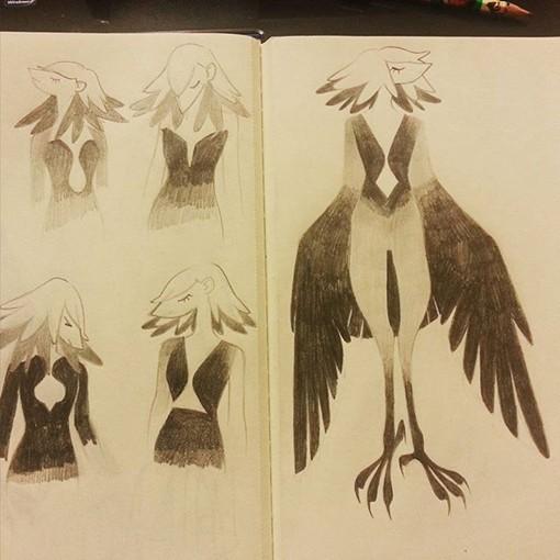 插画师VViiNNG的日常速写手绘绘画练习