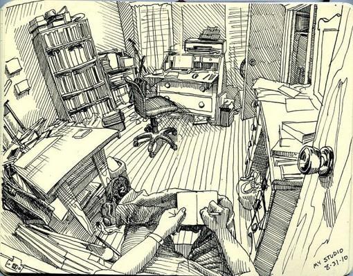 插画师Paul heaston的日常生活速写