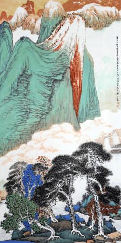 青绿山水作为中国画的一个重要类型,在中国古代艺术历史上曾经有过