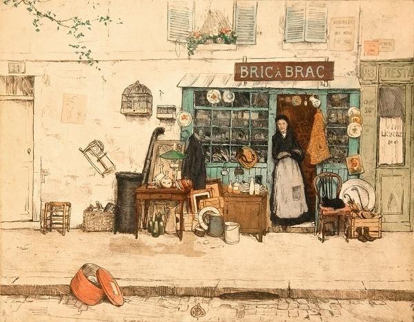 手绘插画 城市的街道