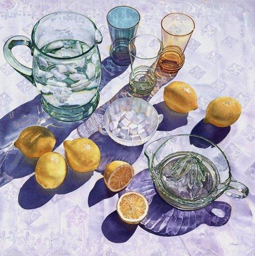 画师Irena Roman的水彩画作品