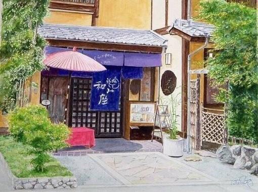 插画师Hiroki的东京小镇街头建筑水彩画