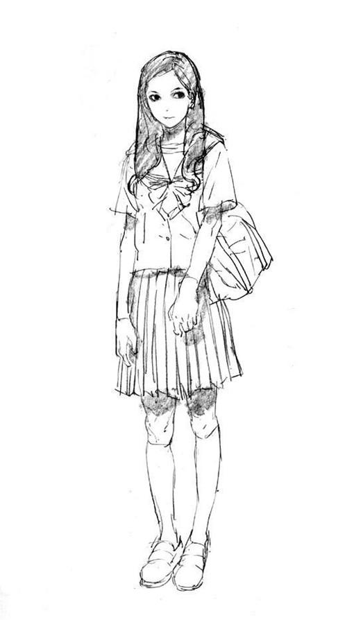 插画师Kim Il Kwang的女性人物插画线稿