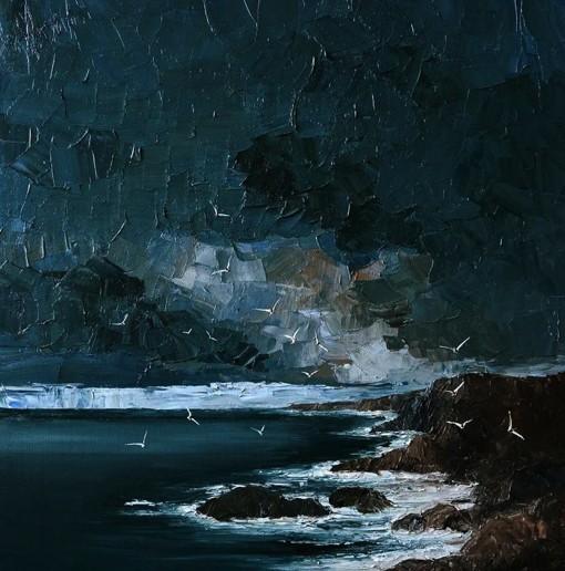 插画师Justyna Kopania关于大海的风光油画