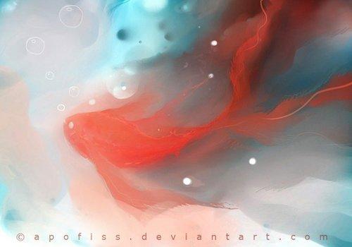 apofiss的梦幻水彩插画