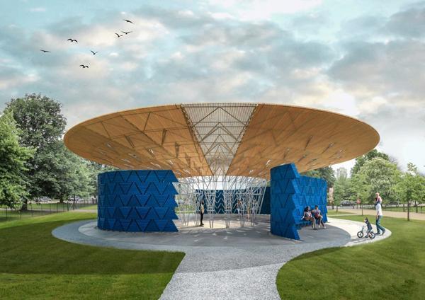 展馆蛇形2017年户外组图v展馆临摹首位非洲建筑师(画廊平面设计想迎来一些好的图图片